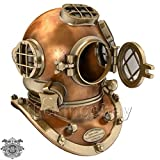 Federal Vintage U.S Navy Mark V Copper Brass Diving Divers Helmet Antique SEA Nautical
