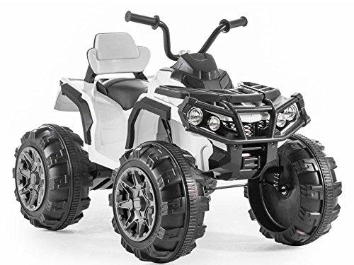 Quad eléctrico BMD0906 para niños, 2 motores de 45 W, neumáticos de goma EVA de 2,4 G, asiento de piel