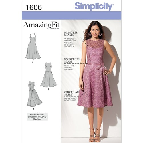 Simplicity 1606 Women's Formal Dress Sewing Patterns, Sizes 4-12