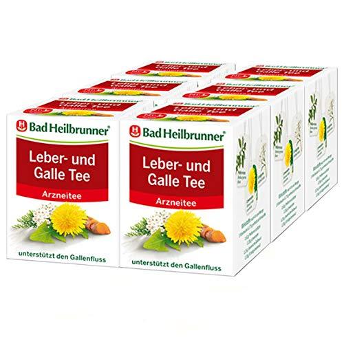 Bad Heilbrunner® Leber- und Galle Tee, 6er Pack