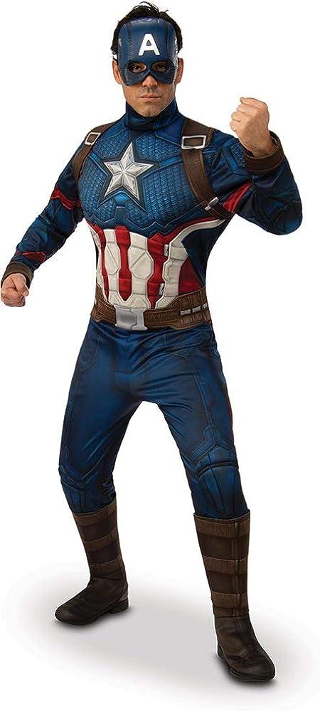 Official Mens Marvel Avengers Hoodie Sweatshirt Character Top Captain America