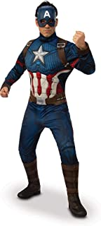 Rubie's Avengers Endgame - Captain America Deluxe Adult Costume, Size
