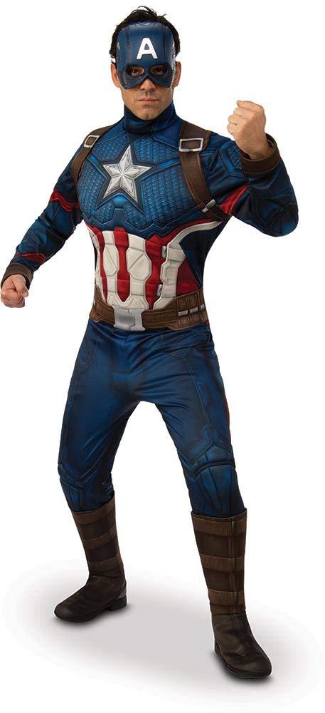 Rubie's Men's Marvel: Avengers 4 Deluxe Captain America Costume & Mask Adult Costume