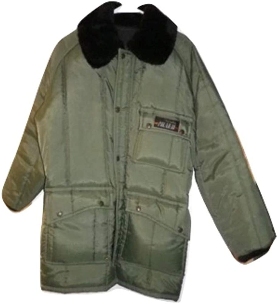 Big and Tall Insulated Freezer Jacket in Loden Green