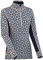 Kari Traa Women's Rose Base Layer Top - Half Zip 100% Merino Wool Thermal Shirt