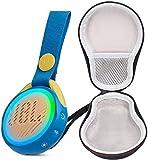 JBL JR POP Portable Bluetooth Speaker for Kids Bundle with Deluxe Hard-Shell Case (Blue)