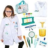 Born Toys Disfraz de científico Completo para niños de Entre 5 y 10 años con Kit para experimentos científicos y Gafas de Laboratorio