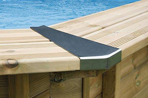 Interline 50700260 Inox Stahl Eckverbindung Set für Bali Pool 8-eckig, (3,55m / 4,40m / 5,30m / 6,55m)