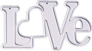 Love Letters Metal Cutting Dies 1.5 by 2.3 Inch Die Cuts for Card Making and Scrapbooking Valentine's Day Dies