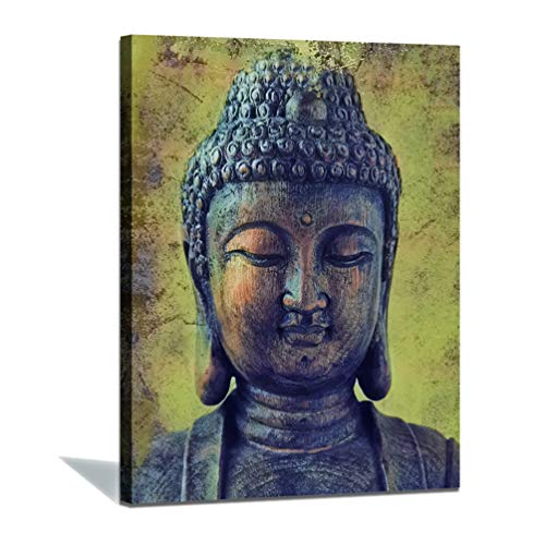 Buddha Wall Art Canvas Wall Decoration-Vintage Zen Golden Buddha Wall Artist House Decoration Religious Painting Picture art Frame - 12'x16'