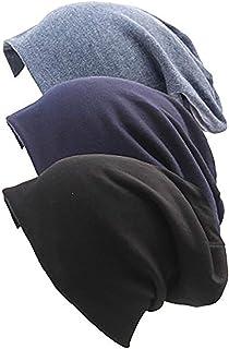 American Trends Unisex Men & Women Slouchy Cotton Beanie Soft Sleep Cap Skullcap for Hairloss Cancer Chemo