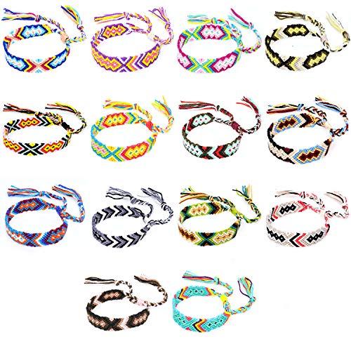 Friendship Bracelets 14 pcs Woven Friendship Bracelets Colorful Braided...