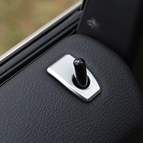 Garniture de serrure de porte de voiture en ABS argenté mat pour X5 F15 2014–2017 pour X6 F16 2015