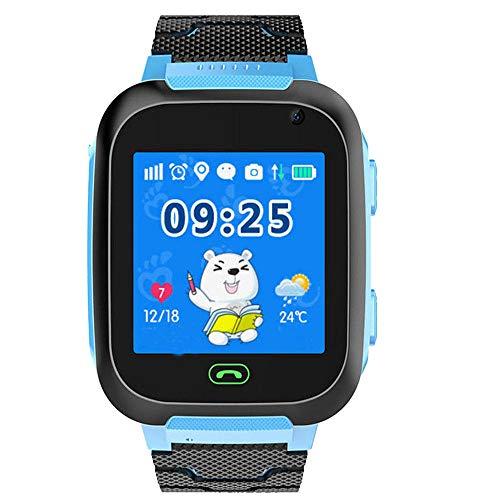 Kinder SmartWatch Kids Smart Watch 1,44 Zoll HD Touchscreen IP67 Wasserdicht Sportuhr Schrittzähler Kompatibel mit Android und IOS Aktivitätstracker-Blau