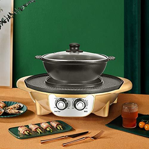 Barbacoa, Vogvigo 2200w parrilla eléctrica,BBQ Grill, gran capacidad topf zum grillen, multifunción,...