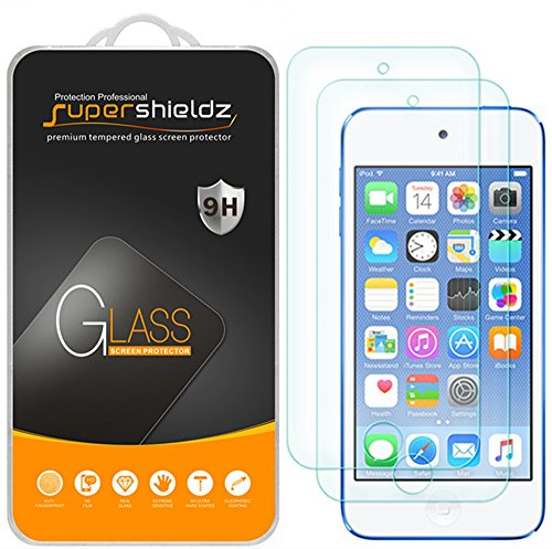 (2 Pack) Supershieldz Designed for Apple New iPod Touch (7th Gen 2019 Released, 6th and 5th Generation) Tempered Glass Screen Protector, Anti Scratch, Bubble Free