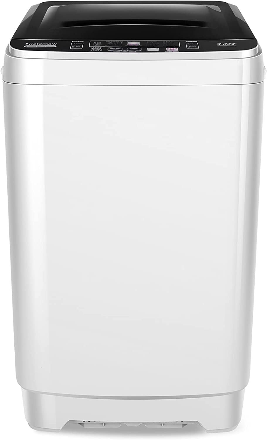 Portable Washer Nictemaw Full-Automatic Washing Machine 1.0Cu.ft/10.5Lbs Capacity 2 in 1 Laundry Washer with 10 programs & 8 Water Level Selections Compact Washer and Dryer for Home, Apartments, Dorm, Camping (17.5Lbs)