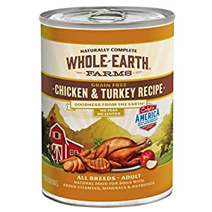 Whole Earth Farms Grain Free All Breed All Life Stages Canned Wet Dog Food (Case of 12)