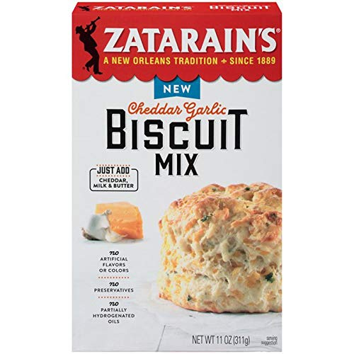 Zatarains Cheddar Garlic Biscuit Mix 11.02 oz, Pack of 2