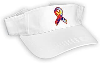 Fundraising For A Cause 12 Pack of Autism Awareness Ribbon Visors (Wholesale Pack - 12 Visors) Pink