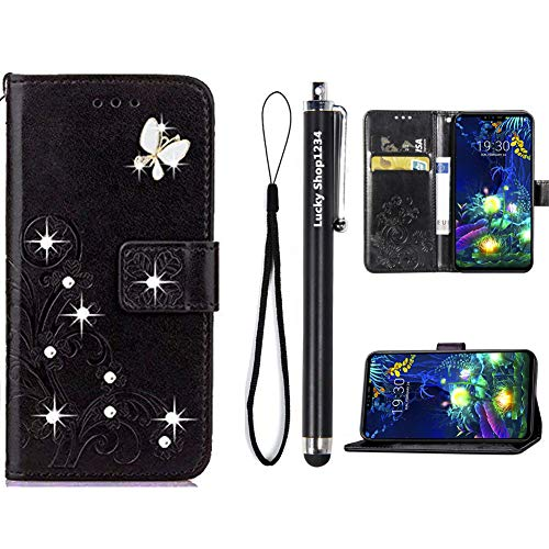 ZTE ZMAX Pro Case,ZTE Carry Z981 Cases,Fashion Handmade 3D Bling Diamond PU Leather Stand Flip Case Cover with Card Holder Folio Wallet Case for ZTE ZMAX Pro/Carry Z981 (Black)