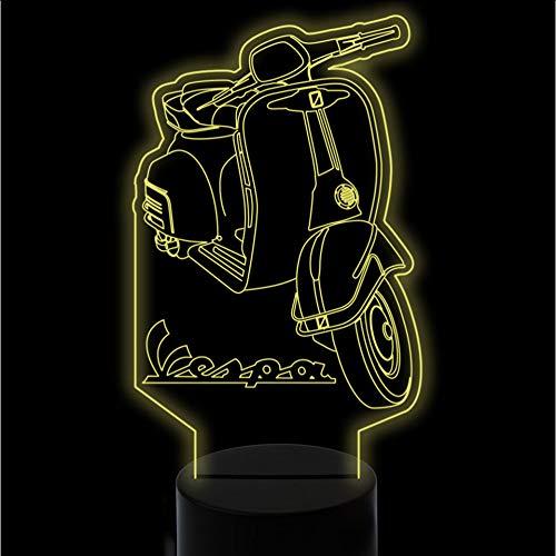 Mmzki 7 Farben Ändern 3D Visuelle Roller Led Nachtlichter Für Kinder Touch Usb Lampara Motorrad Schreibtischlampe Wohnkultur Beleuchtung Geschenke