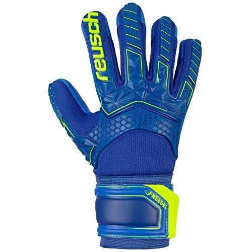 Reusch Kinder Attrakt Freegel S1 Finger Support Junior Torwarthandschuhe, deep Blue/Safety Yellow/deep Blue, 7