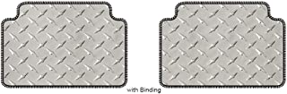 Intro-Tech Diamond Second Row Custom Floor Mats for Select Dodge Charger RT/SRT8 Models - Simulated Aluminum (Silver)