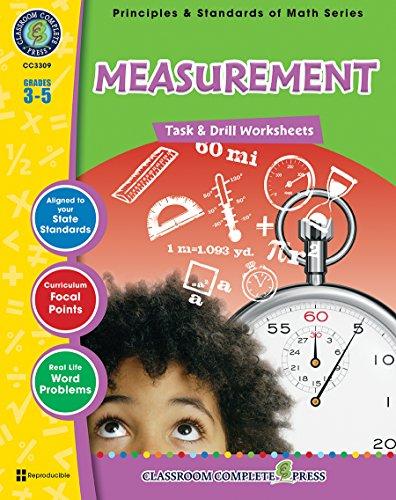 Measurement - Task & Drill Sheets Gr. 3-5 (Principles & Standards of Math) - Classroom Complete Press
