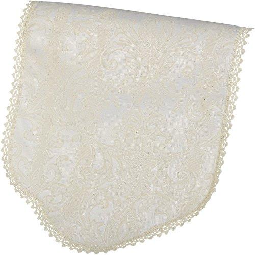 Maple Textiles Decorative Jacquard Damask Standard Chair Back Cream (1 x Chair Back)