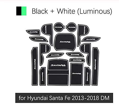 linfei Tappetino Antiscivolo in Gomma con Fessura per Cancello per Hyundai Santafe Santa Fe 2013-2018 DM Accessori Adesivi