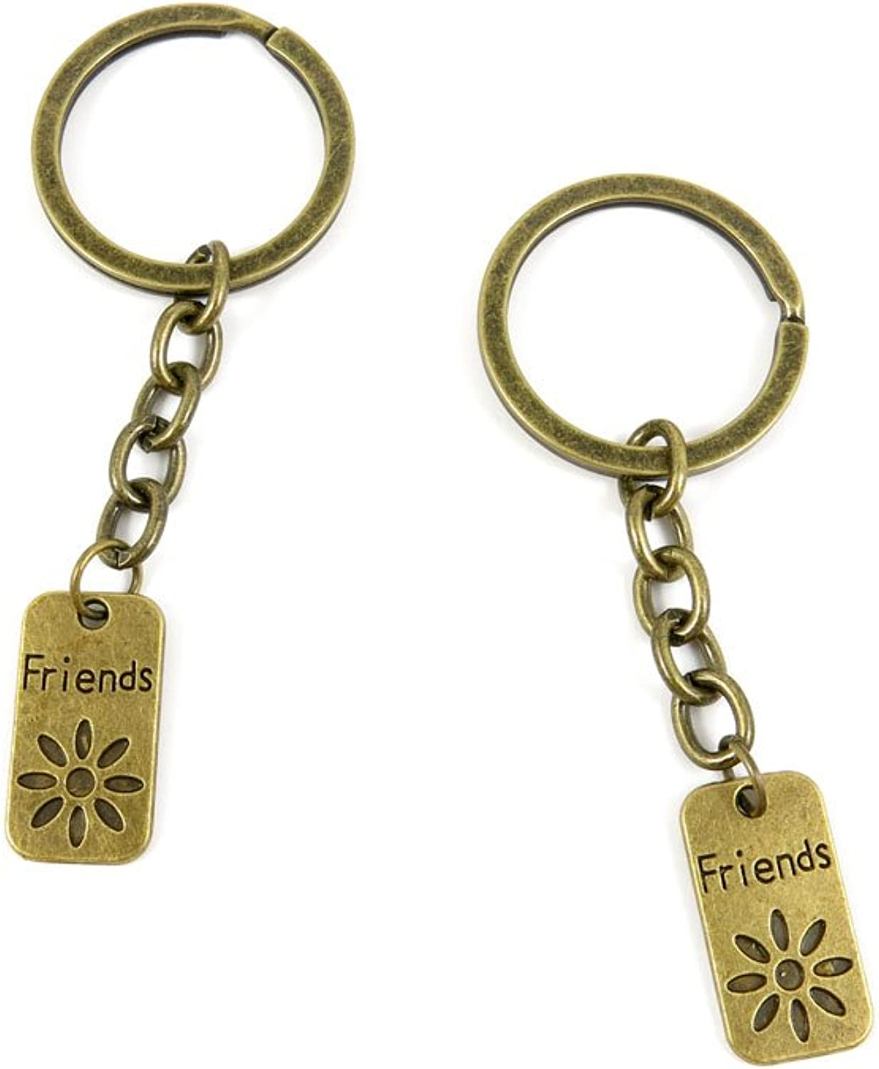 200 Pieces Fashion Jewelry Keyring Keychain Door Car Key Tag Ring Chain Supplier Supply Wholesale Bulk Lots I5YZ4 Friends Signs Tag