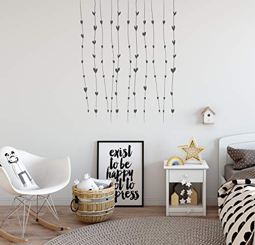 Harten muurtattoo harten hangen vinyl decor harten hangen aan het plafond wanddecoratie mooie slaapkamer kinderkamer kinderkamer design CG1304
