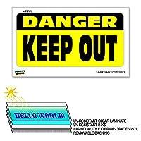 危険キープアウト - 12×6で - ラミネートを符号ウィンドウビジネスステッカー