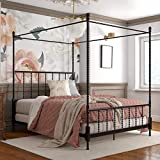 DHP Jenny Lind Metal Full Canopy Bed in Black