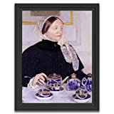 Printed Paintings Marco Americano (70x100cm): Mary Cassatt - Señora en la Mesa de té