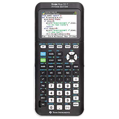 Texas Instruments Taschenrechner TI-84 Plus CE-T Grafikrechner wissenschaftlicher Schulrechner + Garantie auf 60 Monate - programmierbar Tasten Farbdisplay für Schule Python Edition mit Akku