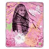 Northwest Company 50-Inch by 60-Inch Micro Raschel Throw, Hannah Montana Pink Star Design