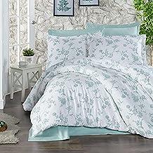 Regal In House 10-Pieces Ranforse Cotton Comforter Set Green & White - 260X240cm - 1585 A.polo-v27