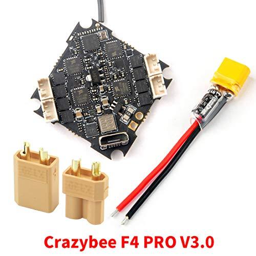 ETbotu Contr/ôleur de vol Happymodel Crazybee F4 Pro V2.0 Mobula7 HD 1-3S avec r/écepteur 5A et r/écepteur Flysky//Frsky//DSMX compatible R/écepteur Flysky compatible