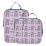 Bolsas de viaje de compresión, hermosas y elegantes, zapatos de baile para niña, accesorios de viaje, cubos de embalaje, bolsa organizadora expandible para equipaje de mano, viaje (juego de 3)