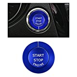 CARFIB Car Interior Accessories for Nissan Rogue 2018 2019 2020 Ignition Button Ring Start Stop Push Engine Decals Stickers Covers Cap Parts Decoration Trim Men Women Aluminum Alloy Blue Pack of 2