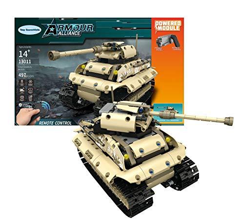 Toy Essentials 497 Pieces Army Battle Tank Remote Control...