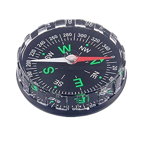 Tbest Mini Kompass Taschenkompass, tragbarer Überlebenskompass Professionelles Button Kompass Navigationswerkzeug zum Wandern, Camping, Bootfahren, Rucksacktouren