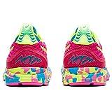 ASICS Gel-Noosa Tri 12, Zapatillas para Correr Mujer, Pink GLO Safety Yellow, 38 EU