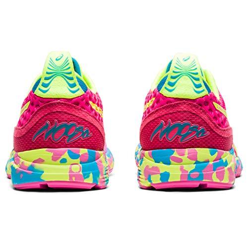 ASICS Gel-Noosa Tri 12, Zapatillas para Correr Mujer, Pink GLO Safety Yellow, 37.5 EU