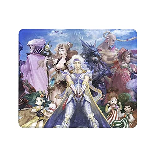 Final Fantasy Gaming Mouse Pad Novelty Cloud Strife Tifa Lockhart Thick Mouse Mat Non-Slip Stitched Edges and Rubber Base for Home Office Desk (12x9.8 inch)