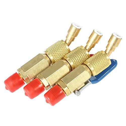 Vislone Aire Acondicionado Refrigerante 3 UNIDS Codificado por Color R410A R134A Válvulas de Cierre para CA HVAC Mangueras de Carga de Refrigeración