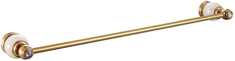 European Copper White Christmas DorÉ Titanium of Diamond Base Accessories of Bathroom Dry-Towels,Single Rod Soap Rack
