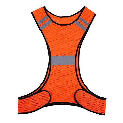Chaleco de Seguridad de Alta Visibilidad (200m) con Bolsillos - Chaleco Reflectante, 2 Colores ( Color : Naranja )
